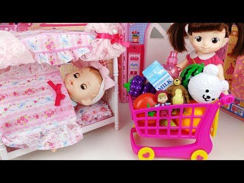 콩순이 아이스크림 냉장고 아기인형 공주침대 뽀로로 장난감놀이 Baby Doll Princess Bed and pororo ice cream refrigerator Toys Play