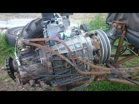 трайк из чермета, испытания мотора от мотоблока. Super Bike