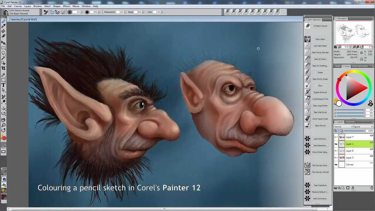 Moving content to a different workspace (corel painter tutorial.