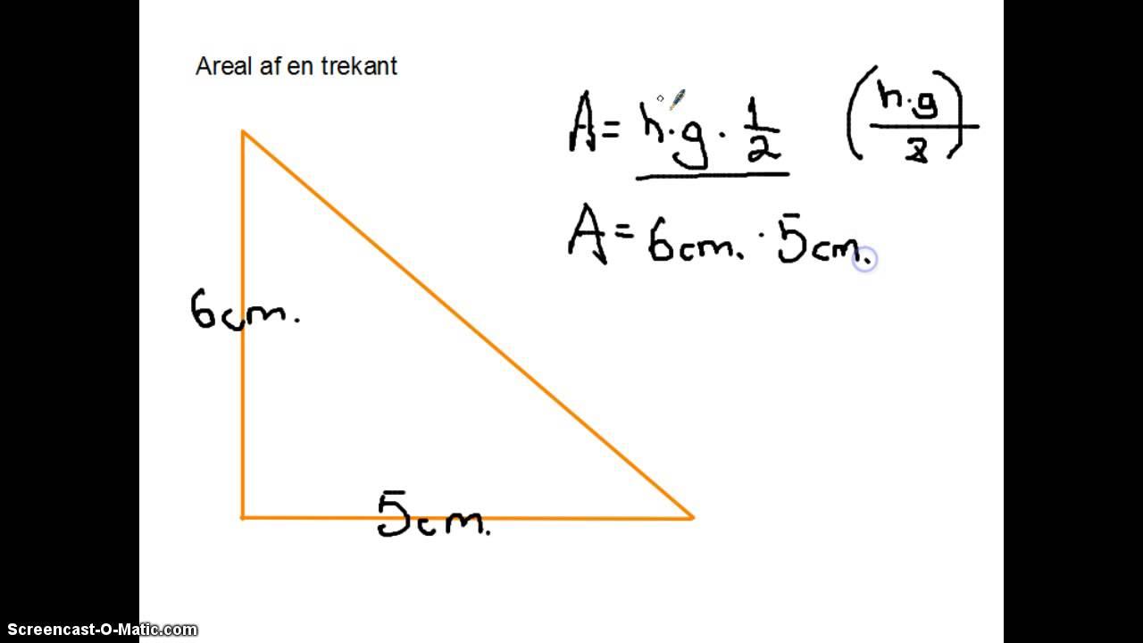 Areal af en trekant