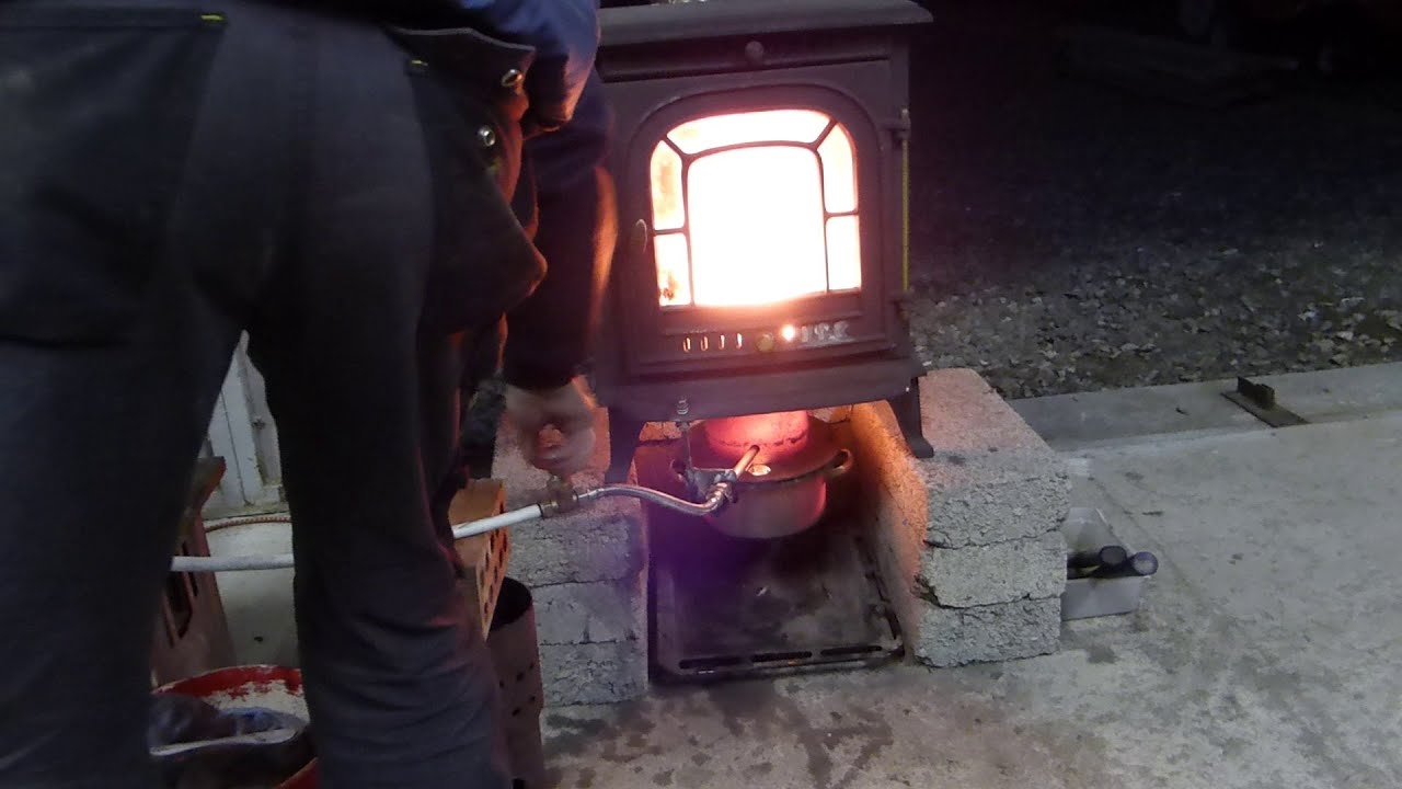 Waste Oil Stove Heater Over 800 Degrees F In Just A Few