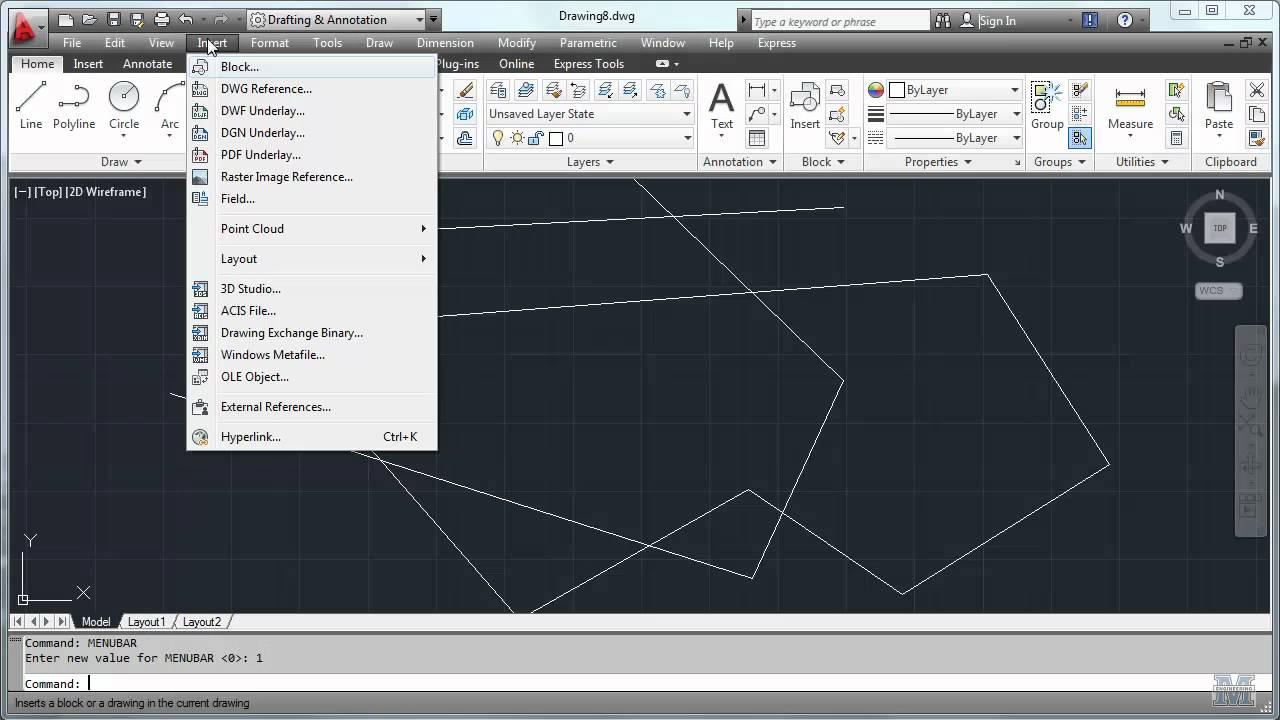 Autocad 01 Getting Started Cie 101 Civil Engineering Graphics Youtube