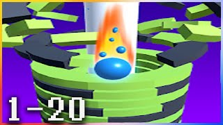 Drop Stack Ball - Fall Helix Blast Crash 3D - Gameplay Walkthrough - Levels 1-20 screenshot 5