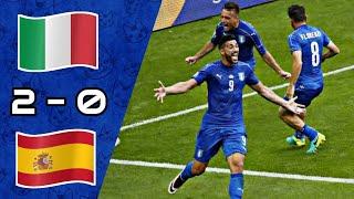Italy vs Spain 2-0