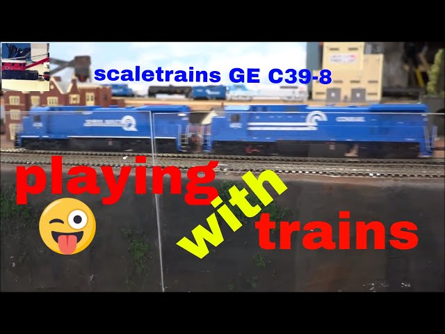 Scaletrains GE C39-8 running on the layout