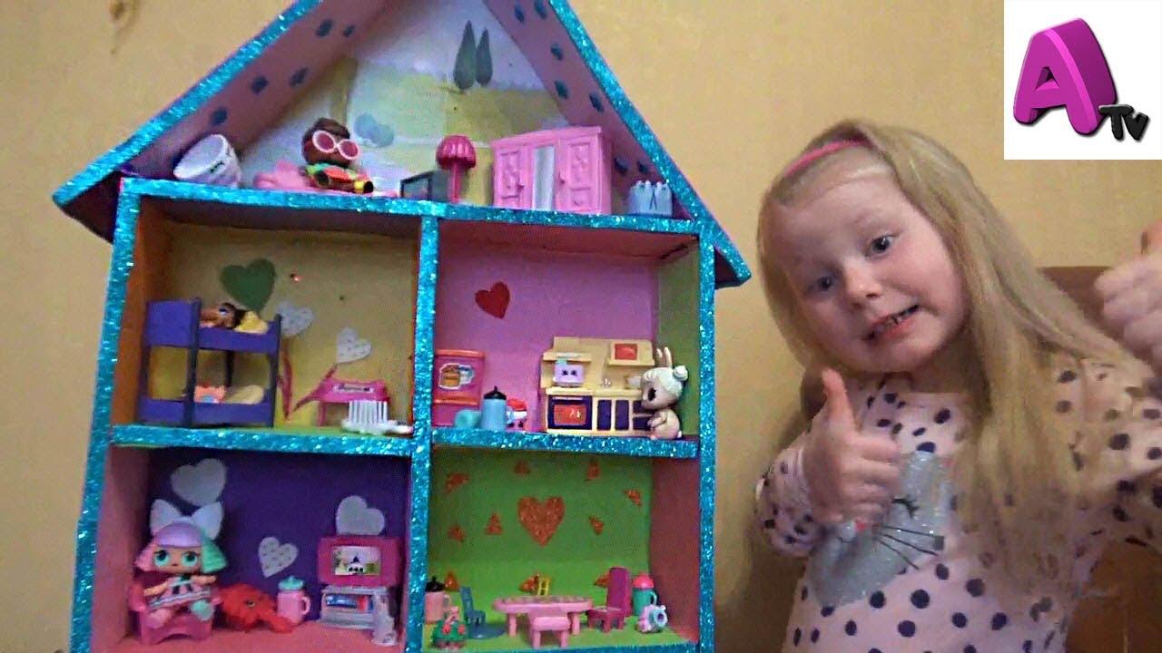 Картинки домик для кукол лол своими руками