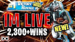 NEW* NFL SKINS! | TOP PS4 SOLO PLAYER! | 2,143 SOLO WINS | Fortnite Battle Royale LIVE