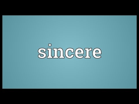 Sincere Meaning