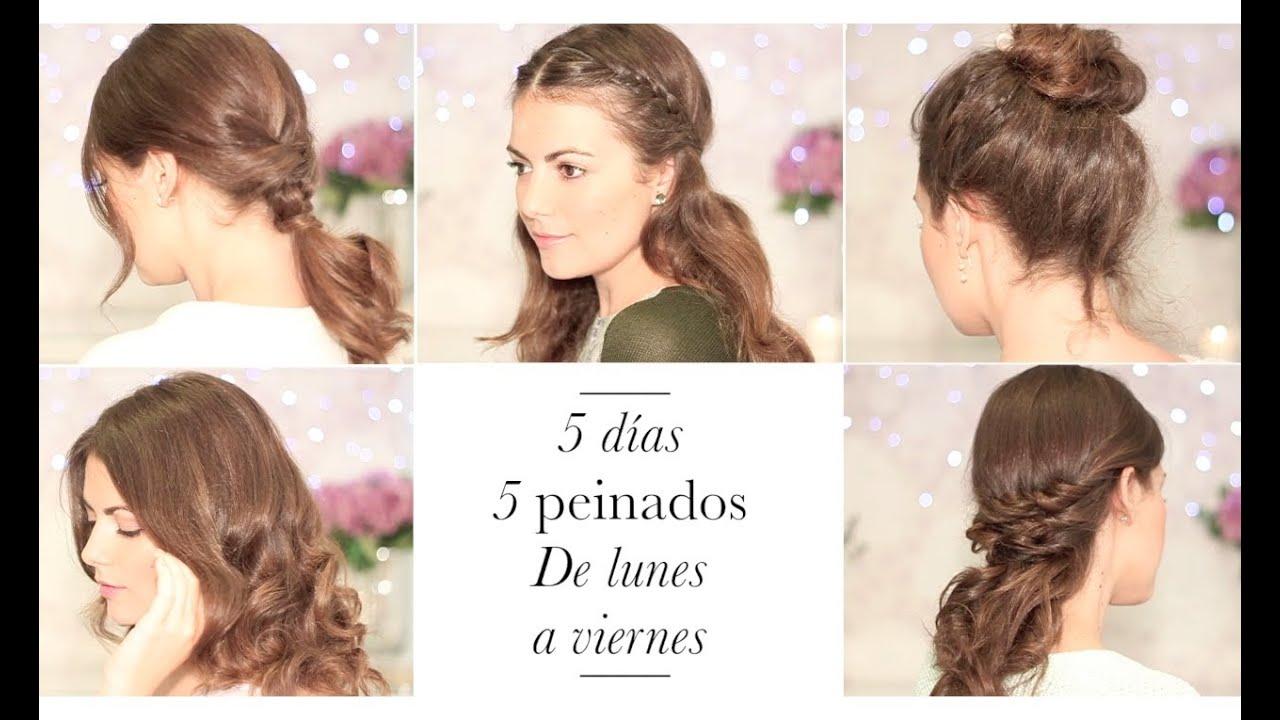 5 peinados faciles de lunes a viernes para ir a clase o - Peinados faciles y rapidos paso a paso ...