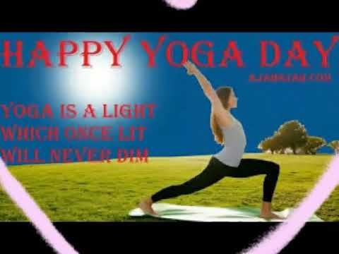 Happy yoga day with maditaion fluit music for relaxing body