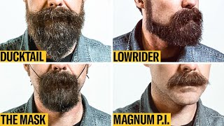 8 Facial Hair Styles on One Face, From Full Beard to Clean Shaven | GQ
