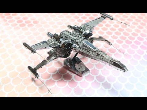Star Wars 3D Metal Puzzle Speed Build: Poe Dameron Fighter Jet