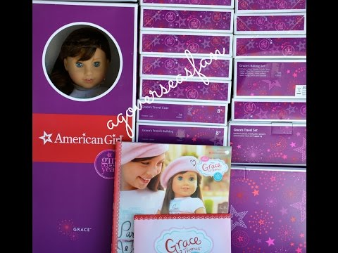 Opening American Girl Doll Grace ~ Whole World Collection Haul~ HD!