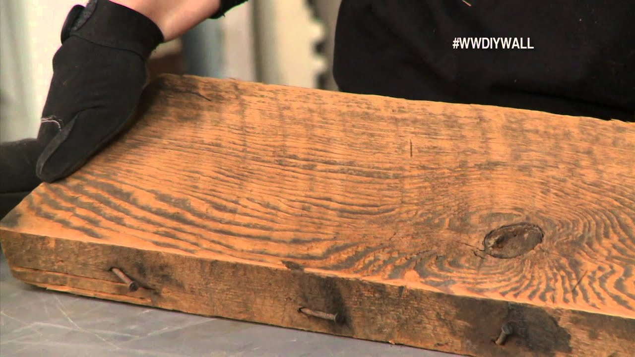 Make A Desk Out Of Reclaimed Wood  Quick Woodworking Projects