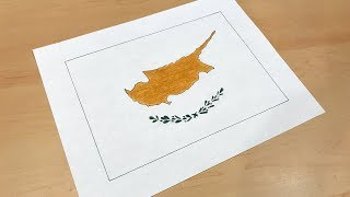 Cypriot Flag Drawing 🇨🇾