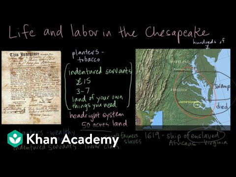 Jamestown - life and labor in the Chesapeake