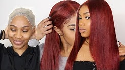 HOW TO: CHERRY RED HAIR TUTORIAL | WATER COLOR METHOD!