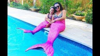 יום כיף אמא ובת - בת הים   ❤  mommy and i are mermaids