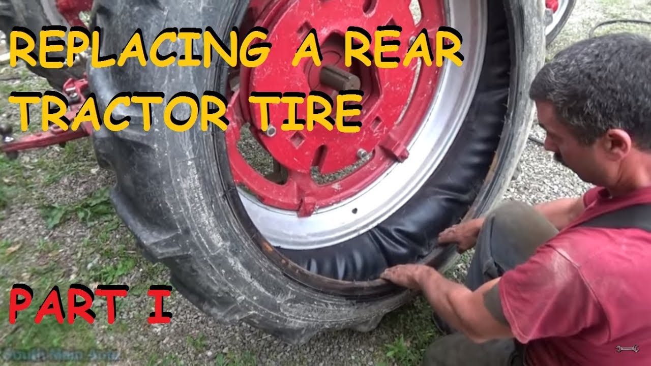 Replacing A Rear Tractor Tire - Rim Removal