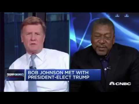 Black Community Billionaire B.E.T Founder Bob Johnson Meets With President Donald Trump! Interview