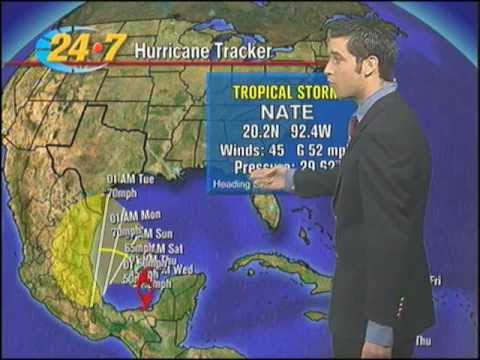 Tropical Storm Nate forms in the Bay of Campeche