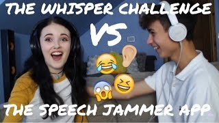 WHISPER VS SPEECH JAMMER CHALLENGE (w/my boyfriend) || HollyLolly999