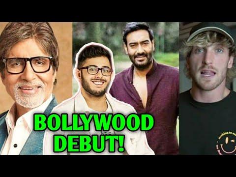 CarryMinati BOLLYWOOD MOVIE DEBUT With Amitabh Bachchan & Ajay Devgn | Edumantra, Logan Paul, Twitch