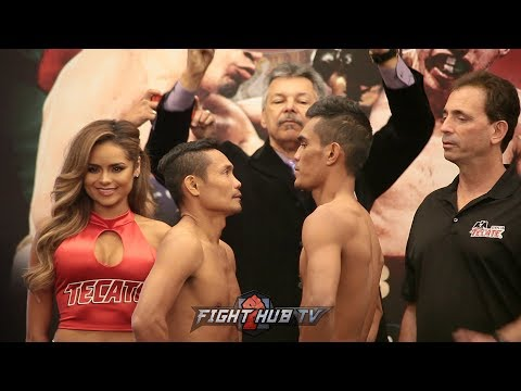 Donnie Nietes vs Aston Palicte - WEIGH IN & FACE OFF (VIDEO) All-Filipino World Title Fight