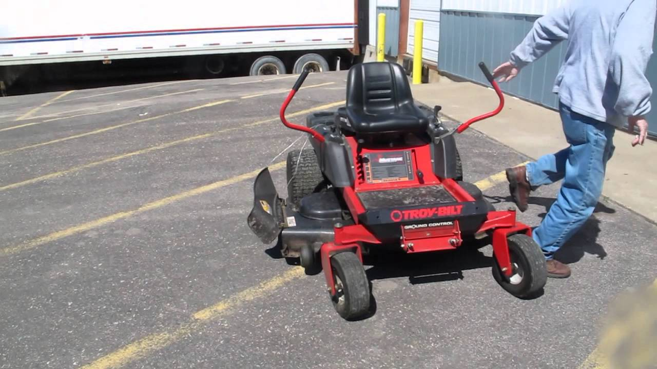 2008 troybilt mower from mn's auction masters - youtube