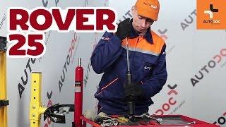 Montaż Amortyzatory przednie ROVER 25: instrukcje wideo