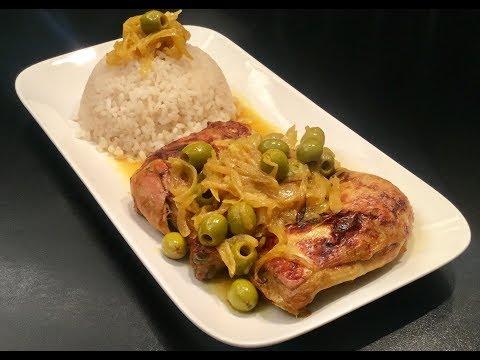 le-poulet-yassa-avec-du-riz