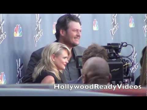 Miranda Lambert and Blake Shelton Arrive to The Voice Season 4 Premiere in Hollywood!
