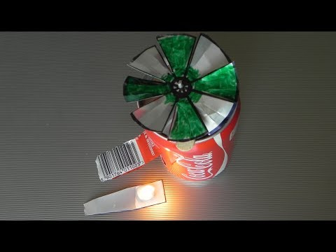 Simple an easy gas turbine made from cans , diy how to make