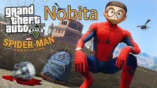 GTA 5 Mod - Nobita Mượn Bảo Bối Của Doremon Trở Thành Người Nhện