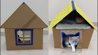 صنعت بيت للقطط سهل وغير مكلف Diy cat house 猫的房子बिल्ली के लिए घर