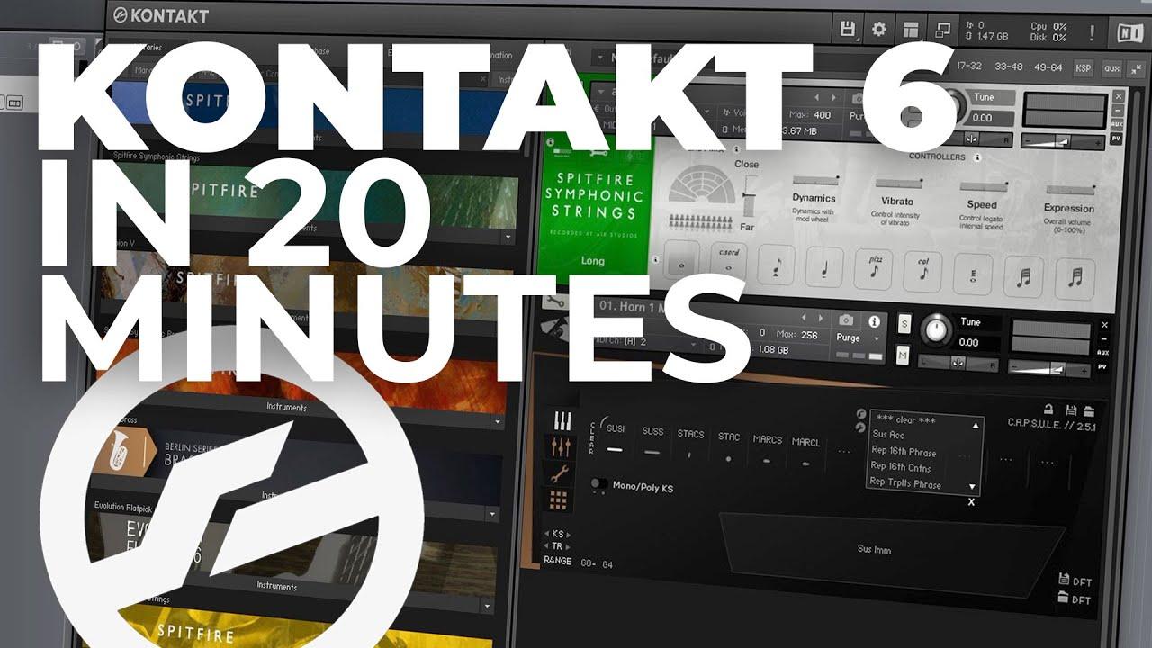 Download Kontakt 6 in 20 minutes