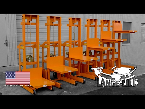 Hand Winch Mobile Lift Cart | 1,000 Pound Capacity