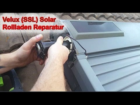 velux solar ssl rollladen reparatur akku montageanleitung youtube. Black Bedroom Furniture Sets. Home Design Ideas