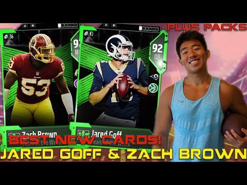 NEW JARED GOFF & ZACH BROWN ARE BEASTS! Madden 18 Ultimate Team