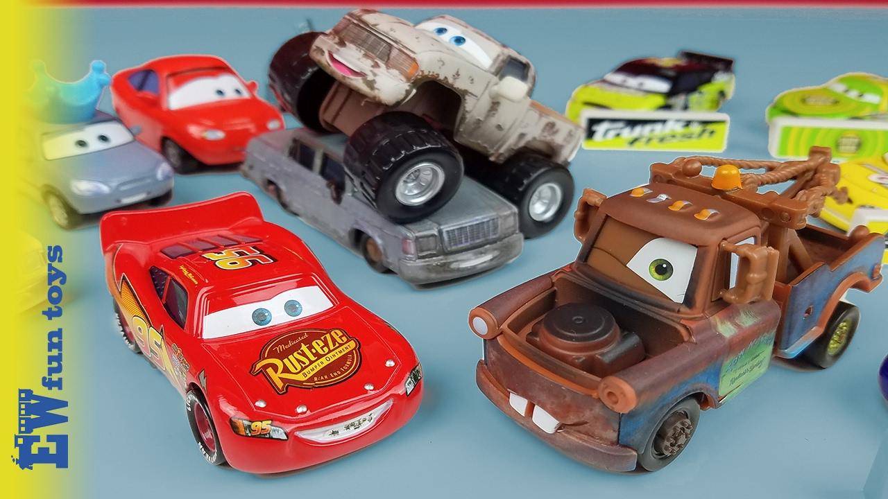 Disney Cars Diecast: Disney Pixar Cars Diecast Toys 21 Mcqueen Mater Monster
