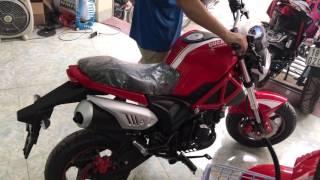 Tiếng Động cơ Ducati Mini Monster 110 kiểu Minibike hot nhất 2017.LH: 0979662288