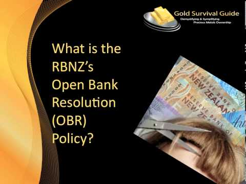 RBNZ Bank Bail In Scheme for Bank Failures: The Open Bank Resolution (OBR)