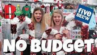 No Budget Shopping Challenge at 5 Below || Taylor and Vanessa
