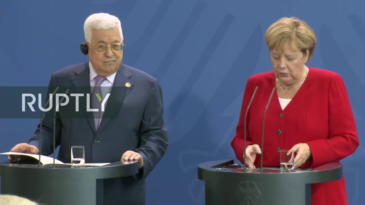 Merkel holds talks with Palestinian President Abbas | Streamed live on August 29, 2019 | YouTube