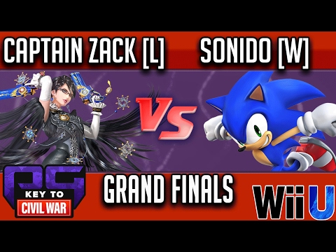 PG Key to Civil War GRAND FINALS - Captain Zack [L] (Bayonetta) vs Sonido [W] (Sonic)