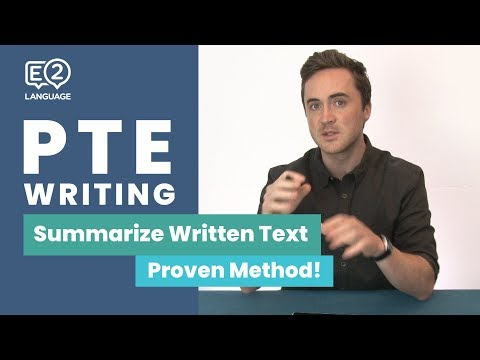 PTE Writing: Summarize Written Text | Learn the Proven Metho