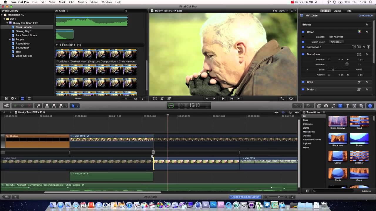 Final Cut Pro X Basics Tutorial Pt. 3 - Precision Editor - YouTube