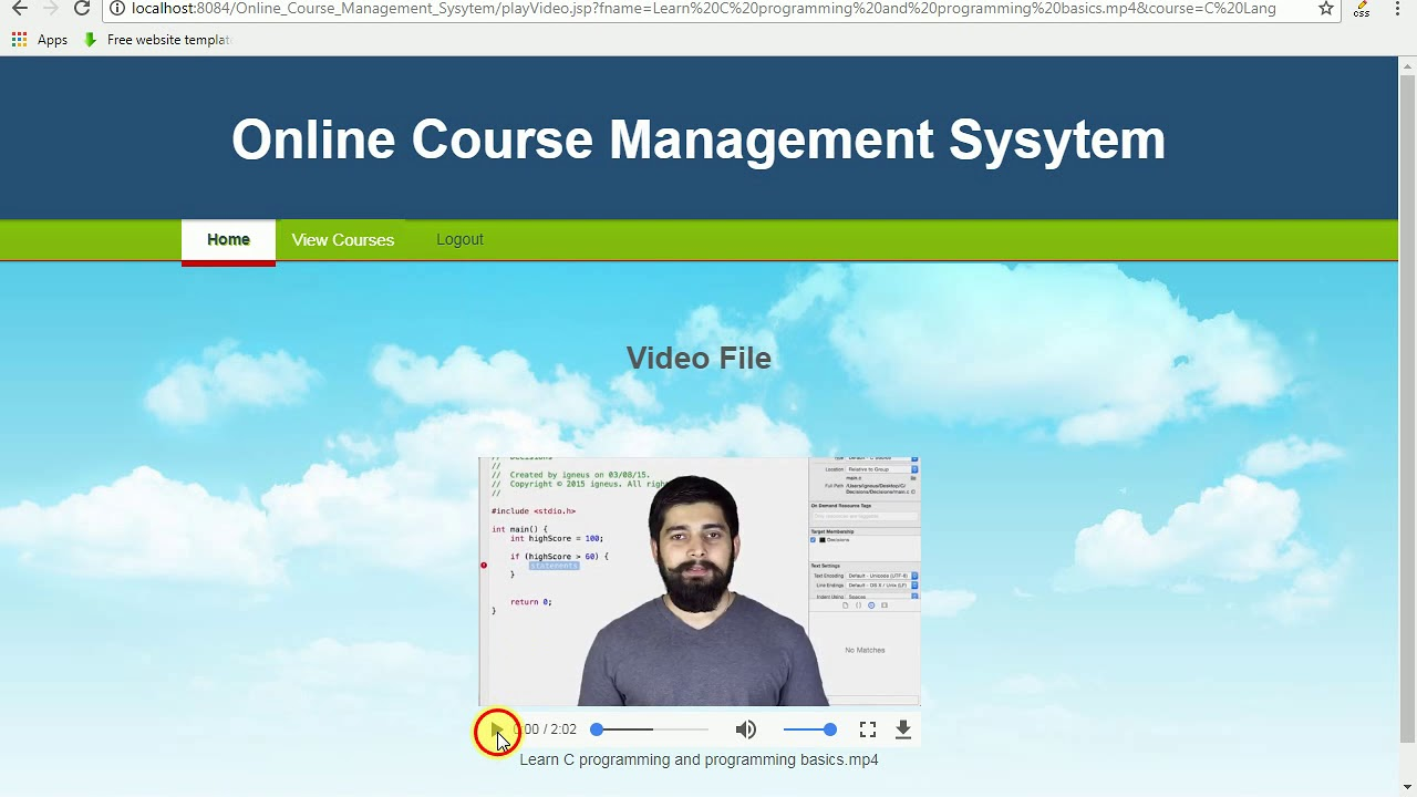 Online Course Management System Java Project Youtube