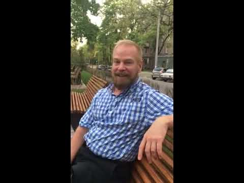 American man, Tim is in Zaporozhye. Video review about Anna Ukolova