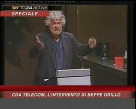 Beppe Grillo distrugge il cda della Telecom 2 (V DAY)